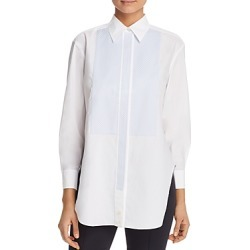 Tory Burch Gingham-Bib Cotton Tunic Shirt found on Bargain Bro UK from Bloomingdales UK