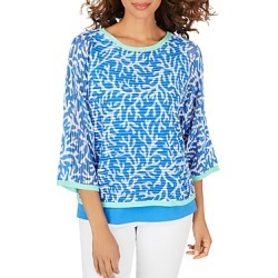 Foxcroft Marcy Coral Reef Print Sweater with Tank Top found on MODAPINS from Bloomingdales UK for USD $73.76