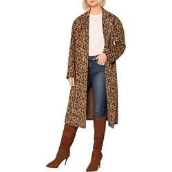 cupcakes and cashmere Sabrina Leopard Print Coat found on Bargain Bro UK from Bloomingdales UK