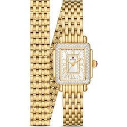Michele Deco Madison Mini Diamond Watch, 22mm x 35mm found on MODAPINS from bloomingdales.com for USD $2995.00