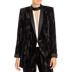 Alice and Olivia Lola Fitted Velvet Blazer found on MODAPINS from Bloomingdales UK for USD $354.80