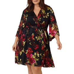 Maree Pour Toi Plus Silk Floral Burnout Wrap Dress found on Bargain Bro India from Bloomingdale's Australia for $168.43