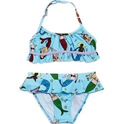 Stella McCartney Girls' Mermaid Print Two-Piece Swimsuit - Little Kid