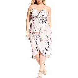 City Chic Plus Exotic Lily Sleeveless Draped Dress