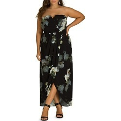 City Chic Plus Orchid Dreams Strapless Maxi Dress found on MODAPINS from Bloomingdale's Australia for USD $117.16