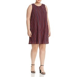 Adrianna Papell Plus Ribbed Stripe Trapeze Dress found on Bargain Bro India from Bloomingdales Canada for $83.36