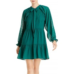 Aqua Ruffled Clip Dot Mini Dress - 100% Exclusive found on Bargain Bro from Bloomingdales Canada for USD $21.04