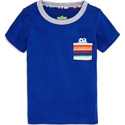 Isaac Mizrahi Loves Sesame Street Unisex Cookie Monster Pocket Tee, Baby, Little Kid - 100% Exclusive