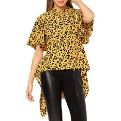 Gracia Leopard Print High Low Peplum Top (47% off) - Comparable value $76 found on Bargain Bro Philippines from Bloomingdale's Australia for $42.64
