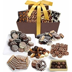 Chocolate Covered Company Mega Delectable Belgian Chocolate Gift Basket