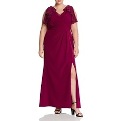 Adrianna Papell Plus Ruffled Chiffon & Crepe Gown found on Bargain Bro India from Bloomingdales Canada for $114.81