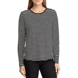 Lauren Ralph Lauren Epaulet Stripe Top found on Bargain Bro India from bloomingdales.com for $32.22