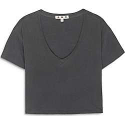 Amo Cropped V Neck Cotton Tee found on MODAPINS from Bloomingdale's Australia for USD $99.71