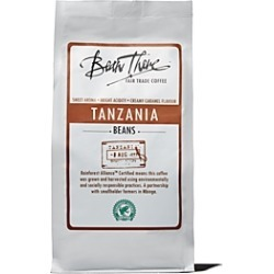 Bean There Coffee Company Tanzania Fair Trade Coffee Beans, 8 oz.