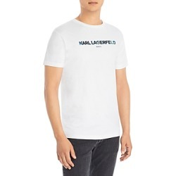 Karl Lagerfeld Paris Foil Logo Crewneck Tee found on MODAPINS from bloomingdales.com for USD $49.00