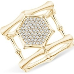 Natori 14K Yellow Gold Diamond Hexagon Statement Ring found on Bargain Bro India from bloomingdales.com for $2200.00