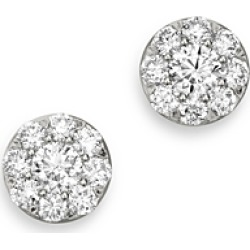 Bloomingdale's Diamond Circle Small Stud Earrings in 14K White Gold, 1.0 ct. t.w. - 100% Exclusive found on Bargain Bro UK from Bloomingdales UK
