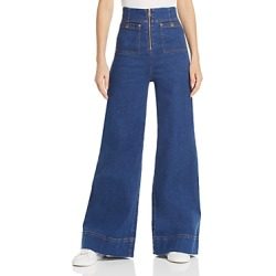 Alice McCall Bluesy High Rise Wide Leg Jeans in Indigo found on MODAPINS from Bloomingdales Canada for USD $272.20