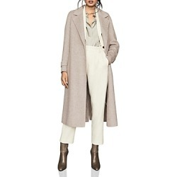 Reiss Lily Textured Blind-Seam Coat