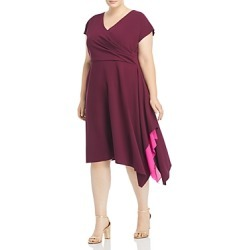 Adrianna Papell Plus Color Blocked Faux Wrap Dress found on Bargain Bro India from Bloomingdales Canada for $93.74