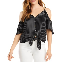 Karen Kane Pinstriped Cold-Shoulder Blouse found on Bargain Bro India from Bloomingdale's Australia for $114.64