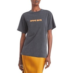 Anine Bing Lili Retro Graphic Print Cotton Tee found on MODAPINS from Bloomingdale's Australia for USD $105.43