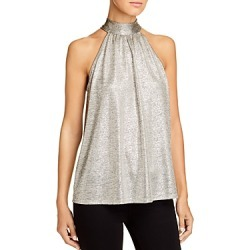 Kim & Cami Sleeveless Metallic Tie-Back Top