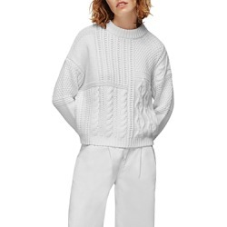 Whistles Patchwork Cable Knit Sweater found on Bargain Bro UK from Bloomingdales UK