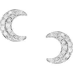 Bloomingdale's Diamond Moon Stud Earrings in 14K White Gold, 0.10 ct. t.w. - 100% Exclusive found on Bargain Bro UK from Bloomingdales UK