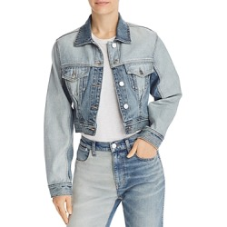 Current/Elliott The Reversed Denim Trucker Jacket found on MODAPINS from Bloomingdales UK for USD $368.19