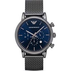Emporio Armani Chronograph Gunmetal Ip Stainless Steel Watch, 46 mm