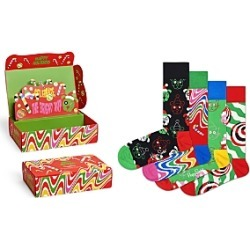 Happy Socks Psychedelic Candy Cane Socks Gift Box, Pack of 4 found on MODAPINS from bloomingdales.com for USD $48.00