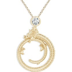 Natori 14K Yellow Gold Diamond Dragon Pendant Necklace, 14-17 found on Bargain Bro India from bloomingdales.com for $1750.00