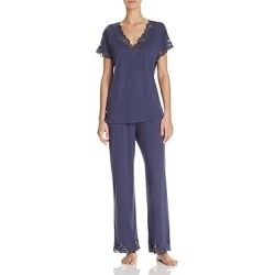 Natori Zen Floral Lace Trim Short Sleeve Pajama Set found on Bargain Bro Philippines from Bloomingdale's Australia for $158.77