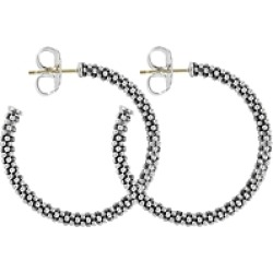 Lagos Beaded Thin Hoop Earrings, Sterling Silver, 28mm found on Bargain Bro India from Bloomingdales Canada for $262.23