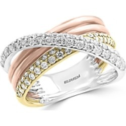 Bloomingdale's Diamond Crossover Ring in 14K White, Yellow & Rose Gold, 0.80 ct. t.w. - 100% Exclusive found on Bargain Bro UK from Bloomingdales UK