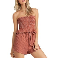 Billabong Well-Grounded Smocked Strapless Top found on MODAPINS from bloomingdales.com for USD $27.57