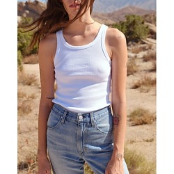 Amo Ribbed Tank Top found on MODAPINS from Bloomingdale's Australia for USD $84.10