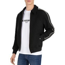 The Kooples Orione Leather-Trimmed Wool-Blend Bomber Jacket found on Bargain Bro Philippines from Bloomingdales Canada for $293.56