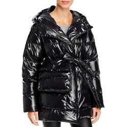 Bacon Laque Wrap Down Coat with Belt Bag found on MODAPINS from Bloomingdales UK for USD $737.82