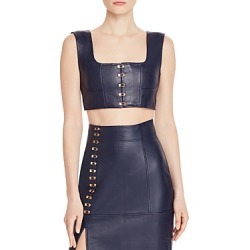 Alice McCall Sweet Street Leather Crop Top found on MODAPINS from Bloomingdale's Australia for USD $346.06
