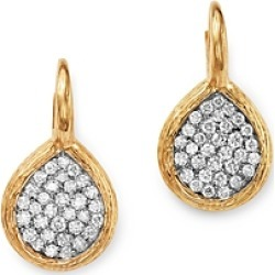 Bloomingdale's Pave Diamond Teardrop Earrings in Textured 14K Yellow Gold, 1.05 ct. t.w. - 100% Exclusive found on Bargain Bro UK from Bloomingdales UK