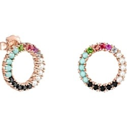 Tous 18K Rose Gold over Sterling Silver Rainbow Gemstone Circle Stud Earrings found on Bargain Bro India from bloomingdales.com for $255.00