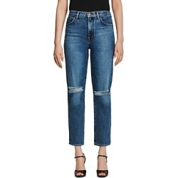 J Brand Jules Ripped Straight Jeans in Finesse Destruct found on MODAPINS from Bloomingdale's Australia for USD $199.42