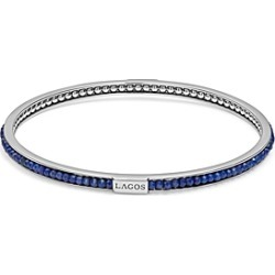 Lagos Sterling Silver Caviar Icon Lapis Beaded Bangle Bracelet found on Bargain Bro India from Bloomingdales Canada for $315.04