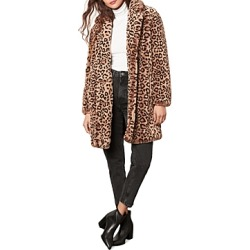 cupcakes and cashmere Tinsley Faux Fur Leopard Coat found on Bargain Bro from Bloomingdales Canada for USD $152.11