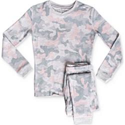 Pj Salvage Girls' Camo Print Tee & Pants Pajama Set - Little Kid, Big Kid