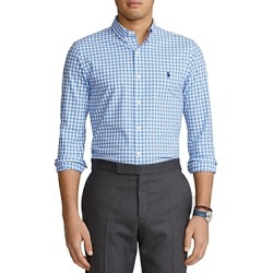 Polo Ralph Lauren Slim Fit Gingham Poplin Button Down Shirt found on Bargain Bro India from bloomingdales.com for $68.95