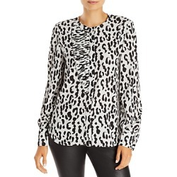 Jason Wu Pleated Leopard Print Top found on MODAPINS from bloomingdales.com for USD $795.00