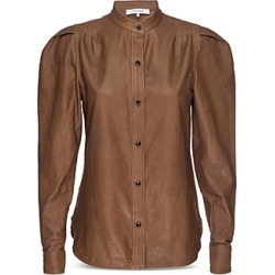 Frame Charlie Puff Sleeve Leather Top found on Bargain Bro from Bloomingdales Canada for USD $333.72